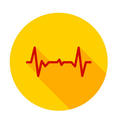 cardiogram pulse circle icon vector image
