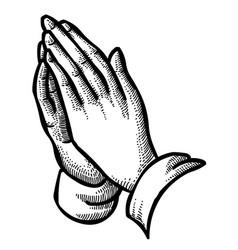 Cartoon image pray vector