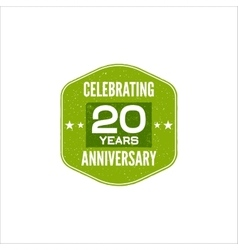 Celebrating 20 years anniversary badge sign vector