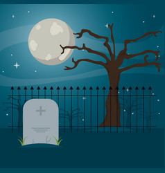 cemetery icon design vector image