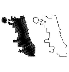 Chicago city map vector