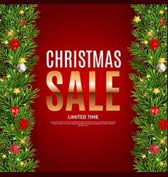 christmas and new year sale gift voucher discount vector image