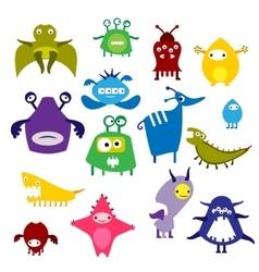 Color alien monster vector