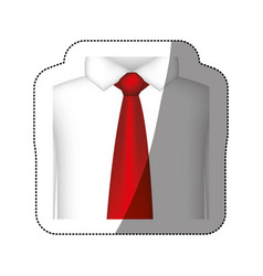 Color tie with shirt icon vector