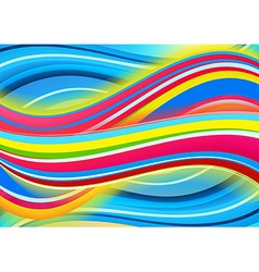 Colored waves background vector image
