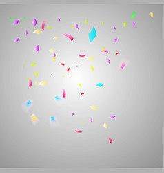 colorful bright confetti isolated on transparent vector image