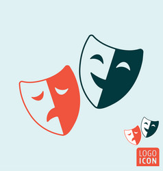 Comedy and tragedy theatrical masks symbol vector