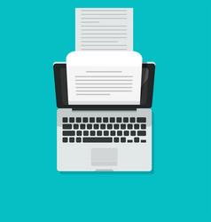Computer aka typewriter flat vector