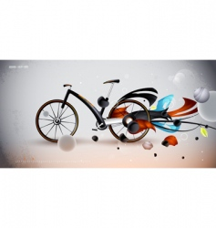 concept bike for urban vector image