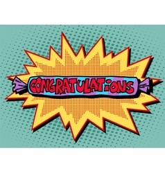 Congratulations candy sweets vector image