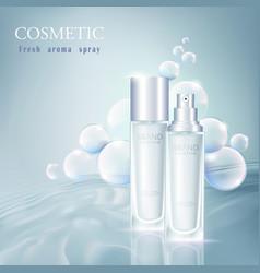 Cosmetic bottle toner 2 vector