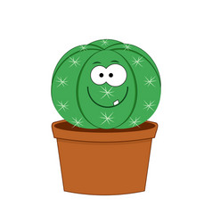 cute cartoon cactus isolated vector image