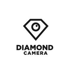 diamond camera logo design inspiration vector image