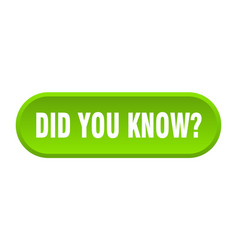 Did you know button did you know rounded green vector