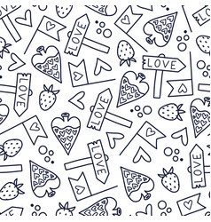doodles pattern vector image