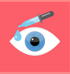 Eye drops medicine ophthalmology vector