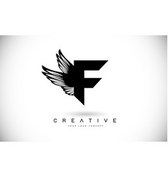 f letter logo with wings creative wing letter f vector image