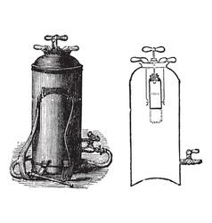 Fire Extinguisher vintage engraved vector image