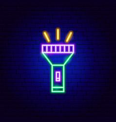 flashlight neon sign vector image