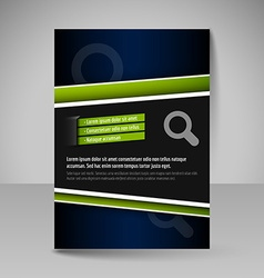 Flyer magazine cover brochure template design for vector