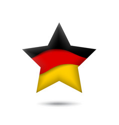 germany flag icon in shape star waving in vector image