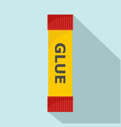 glue stick icon flat style vector image