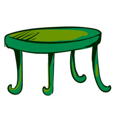 green table on white background vector image