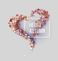 Hello autumn title texts poster vector