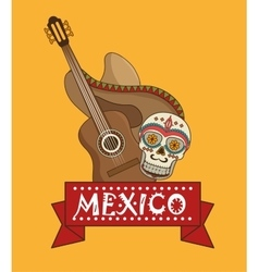 icons music mexican design vector image
