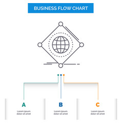 iot internet things of global business flow chart vector image
