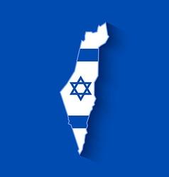 Israel map vector image