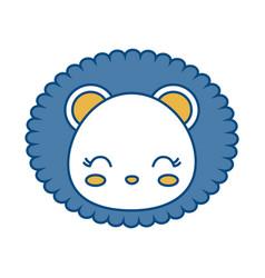 Kawaii lion icon vector