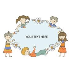 kids frame 1 vector image