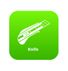 Knife icon green vector