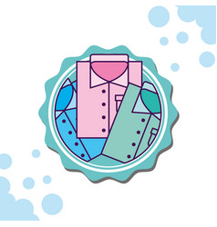 Laundry cleaning related vector