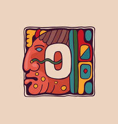 Letter o logo in aztec mayan or incas style vector