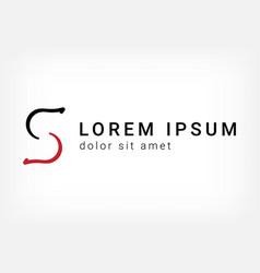 Letter s logo curve style design template vector