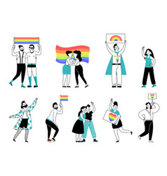 Lgbtq person pride young people lgbt community vector