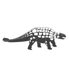 little ankylosaurus cartoon bajurassic period vector image