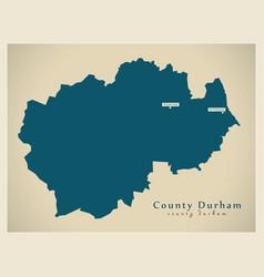 Modern map - county durham unitary authority vector