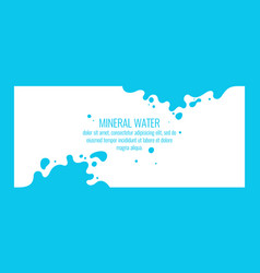 modern poster mineral water with splashes on vector image