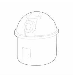 Observatory station icon outline style vector