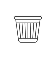 Office bin line outline icon vector