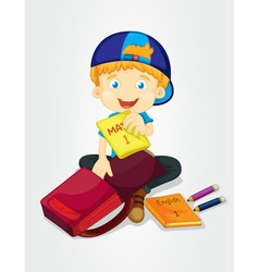 Packing bags vector