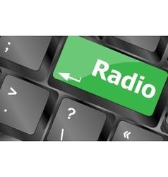 Radio button on a computer keyboard keys Keyboard vector