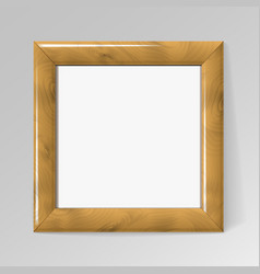 Realistic square wooden frame for paintings vector