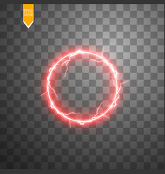 red round frame shining circle banner isolated vector image