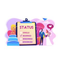 Relationship status concept vector