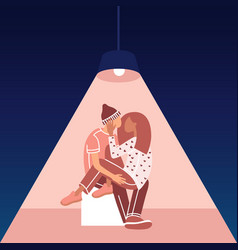 Relationships concept loving couple man and woman vector