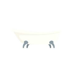 Retro bathtube icon flat style vector
